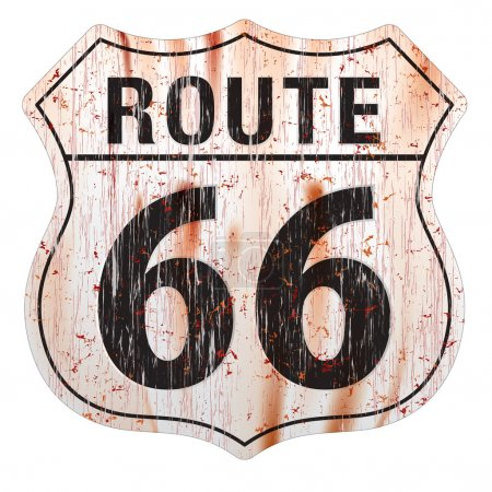 Route Sixty Six Grunge Sign Route Sixty Six Sign