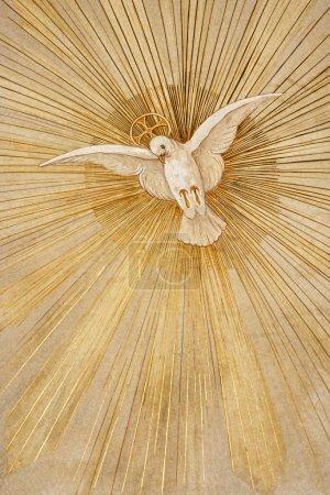 Photo pour Le symbole chrétien de la colombe de la paix - image libre de droit