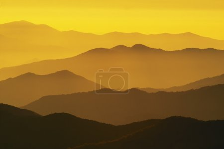 Photo for Beautiful sunset in the Great Smoky Mountains National Park, USA - Royalty Free Image