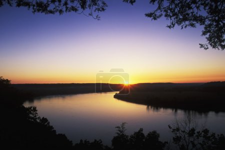 Beautiful sunrise over the Ohio River as seen from...
