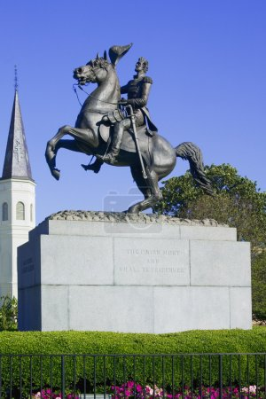 Photo for General General statue in Jackson Square New Orleans, Louisiana, United States - Royalty Free Image