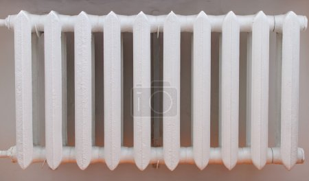Old iron radiator for home.