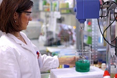 Female Chemical Engineer In Lab