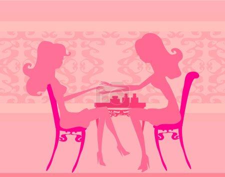 Photo pour Jeune femme faisant de manucure dans un salon de beauté - image libre de droit
