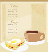 Template designs of menu coffee shop and restaurant