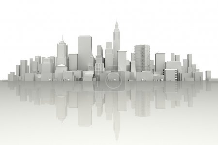 Photo for Image of 3d render of city scape with skyscraper - Royalty Free Image