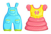 Vector Baby Boy and Girl dress