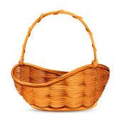 Vector illustration of wicker basket on white background