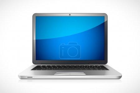 Illustration pour Illustration vectorielle de l'ordinateur portable sur fond blanc - image libre de droit