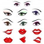 Постер, плакат: Eyes and Lips