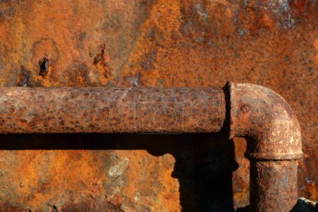Rusty steel pipe