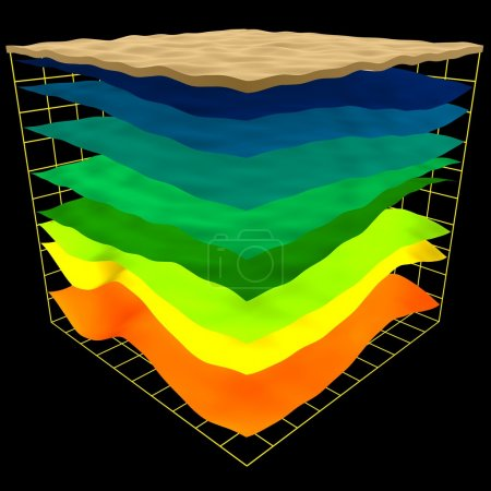 Abstract geology layers scheme