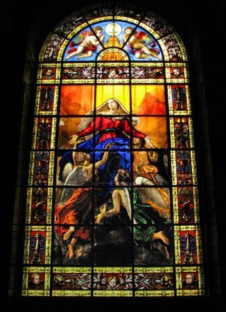 Stained Glass in Church of Notre Dame de Lorette