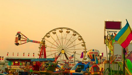 Photo for View of a local fair or festival - Royalty Free Image