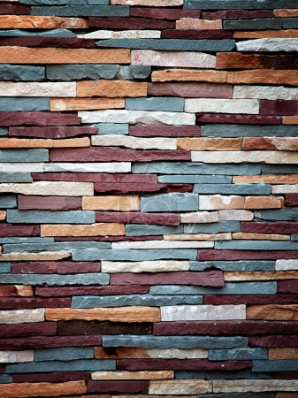 Colorful stone wall texture