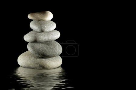 Stack of balanced zen stones