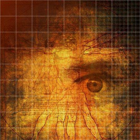 Vitruvian Man abstraction