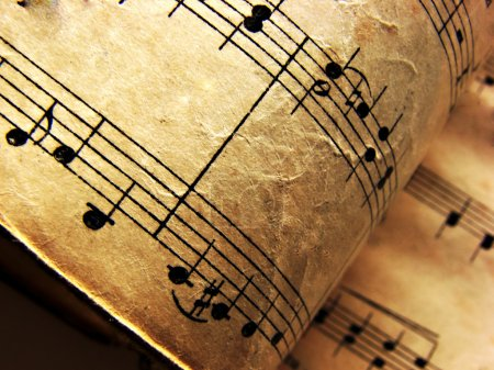 Vintage musical notes