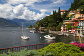 The small town of Varenna at lake Como in Italy