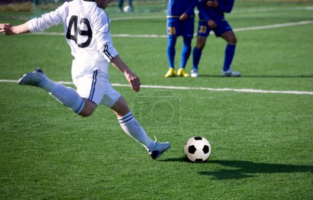 Photo pour Terrain de soccer football - image libre de droit
