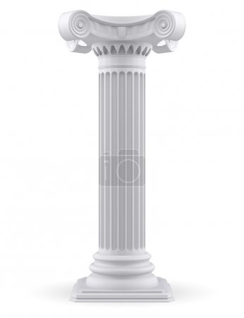 Photo for Single column (3d render) - Royalty Free Image
