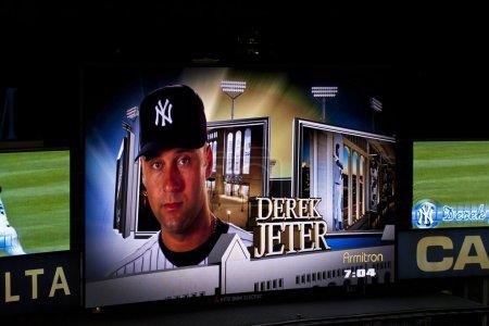 Photo pour Jeter de Derek. stade d'yankee de tableau de bord, ny. - image libre de droit