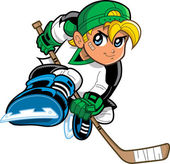 Anime Manga Boy Hockey Player