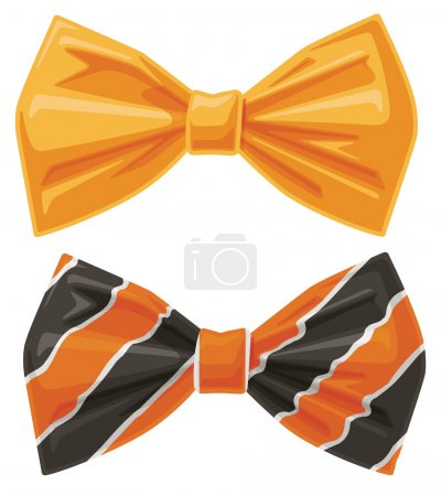 Illustration for This file is for a pair of bow tie vector eps graphic illustrations. Each bow tie is a separate graphic. - Royalty Free Image
