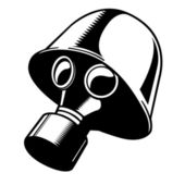Vector Gas Mask (One Color)