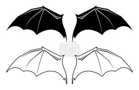 Vector Bat Wings
