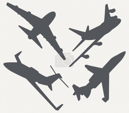 Commercial Jet Silhouettes