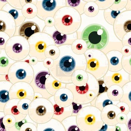 Illustration pour Ceci est un motif vectoriel sans couture des yeux . - image libre de droit