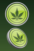 Vector Marijuana Leaf Icons