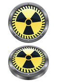 This is vector icon of the radioactive symbol in two views