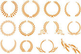 Laurel wreath pattern