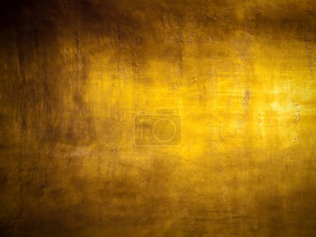 Photo for Antique golden grunge background with highlight texture - Royalty Free Image