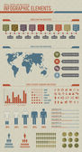 Useful high detailed and vintage styled infographic elements