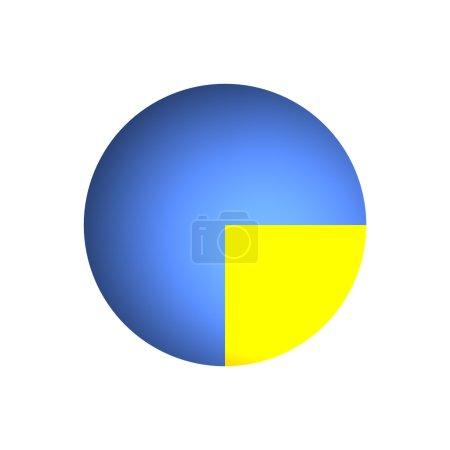 Photo pour Illustration bitmap du graphique à secteurs d'affaires (25 % + 75 % ) - image libre de droit