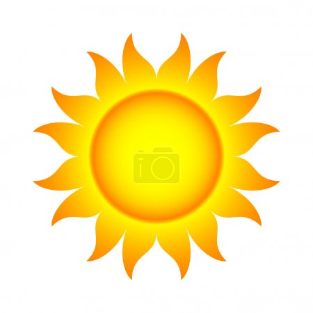 Illustration for Vector Illustration of Sun With Flames - Royalty Free Image
