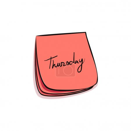 Daily Post-It Notes With Handwritten Monday (jpeg ...