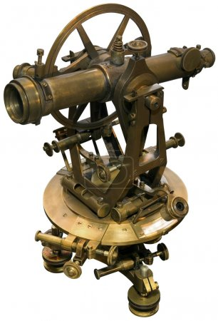 Old theodolite tacheometer cutout