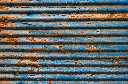 Photo pour Le rouillé ondulé fond de texture en métal - image libre de droit