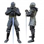 Knight Swordsman in Full Armour, 3D render