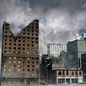 """Постер, картина, фотообои """"городское разрушение"""""""