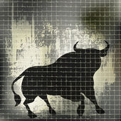 Grunge Bull Background