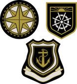 Emblem badge with sail sign