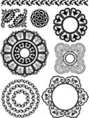 Classical floral pattern design