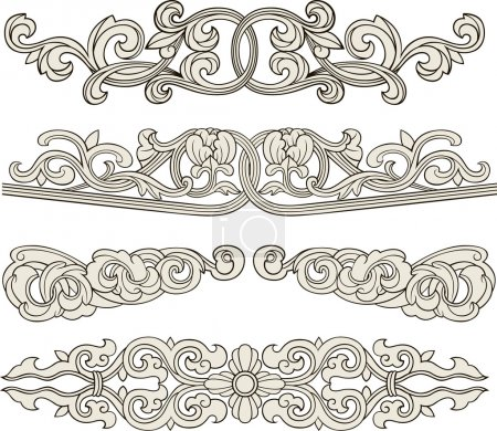 Illustration for Scroll ornament illustration - Royalty Free Image