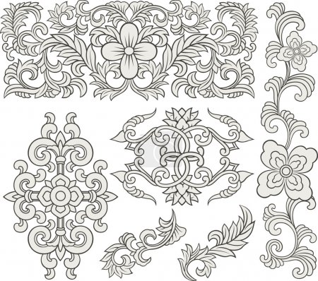 Scroll ornament set
