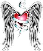Classic flying heart